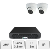Discreet Dome Camera Kit | 2MP IP Camera Kit