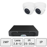 Eyeball Dome Camera Kit | 2MP IP CCTV Camera Kit