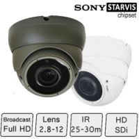 HD Eyeball Dome Camera (Full HD, SONY Starvis, 2.8-12mm Lens)