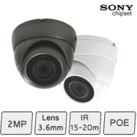 HD IP Night Vision Dome Camera (2MP, IR 15m, POE)