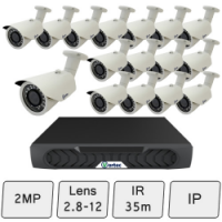 Day Night IP CCTV Security Camera Kit
