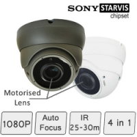 Motorised HD CCTV Dome Camera (SONY Starvis, Vari-focal Lens, 25-30m IR)