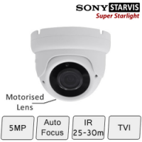 Motorised HD CCTV Dome Camera (SONY Starvis, Vari-focal Lens, 25-30m IR)Motorised 5MP Eyeball Dome Camera