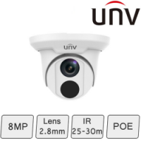 4K Turret Dome Camera (8MP, Smart, True WDR) | UNV