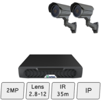 Mid-Range Security Camera System | 2MP IP CCTV System