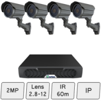 Long-Range Security Camera System | 2MP IP CCTV Kit