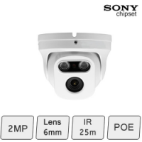 HD-IP 2MP Eyeball Dome Camera (2MP, IR 25m, POE)