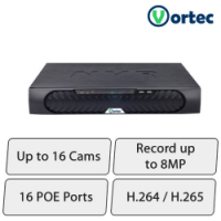 Vortec HD NVR (16Ch, Upto 8MP Cameras)