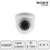 Mini Golf-ball Dome Camera (4-In-1, IR 8m) | Mini CCTV