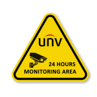 UNV Warning Sign Sticker