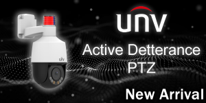 New Mini Uniview PTZ is here, with Active Deterrence and Auto-Tracking capabilities