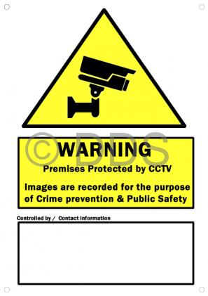 CCTV Warning Sign PVC - A4